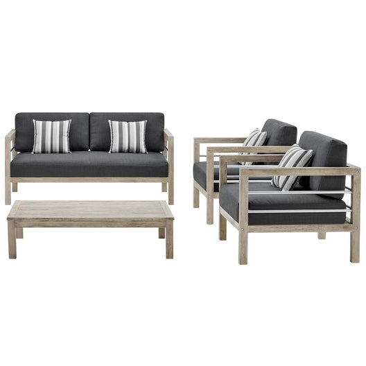 Wiscasset Outdoor Patio Acacia Wood Set