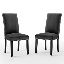 Parcel Performance Velvet Dining Side Chairs - Set of 2