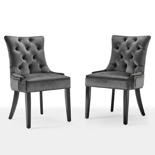 Regent Tufted Performance Velvet Dining Side Chairs - Set of 2
