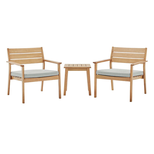 Breton Outdoor Patio Ash Wood Set