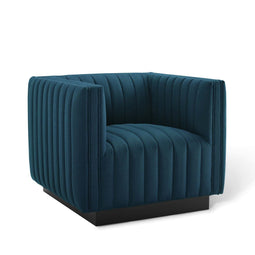 Perception Tufted Upholstered Fabric Armchair