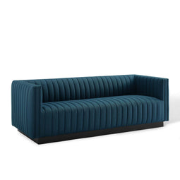 Perception Tufted Upholstered Fabric Sofa