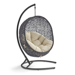 Hanging Basket Swing Chair For Indoor and Outdoor Decor - Encase Swing Outdoor Patio Lounge Chair