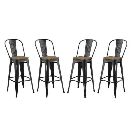 Promenade Bar Stool Metal Set of 4