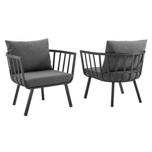 Riverside Outdoor Patio Aluminum Armchair Set of 2
