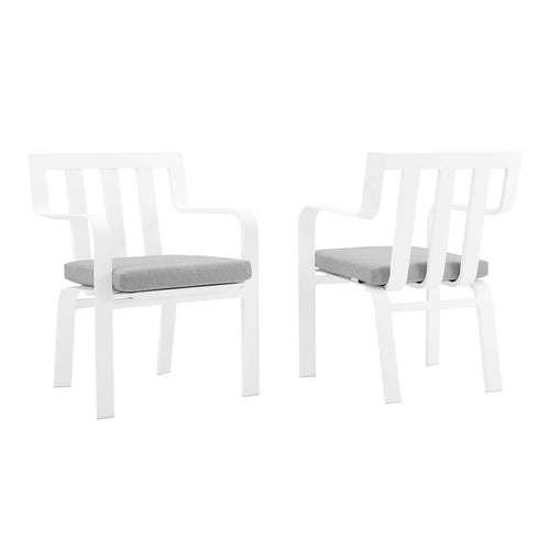Baxley Outdoor Patio Aluminum Armchair Set of 2