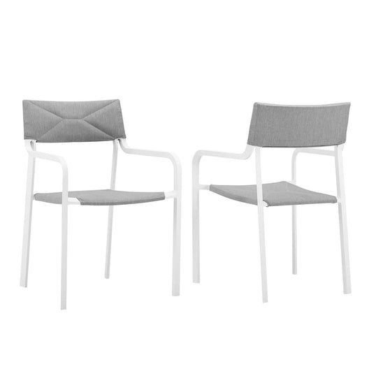 Raleigh Outdoor Patio Aluminum Armchair Set of 2
