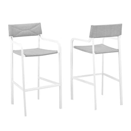 Raleigh Outdoor Patio Aluminum Bar Stool Set of 2