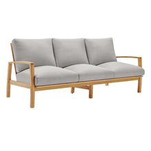 Load image into Gallery viewer, Orlean Outdoor Patio Eucalyptus Wood Sofa and Loveseat Set
