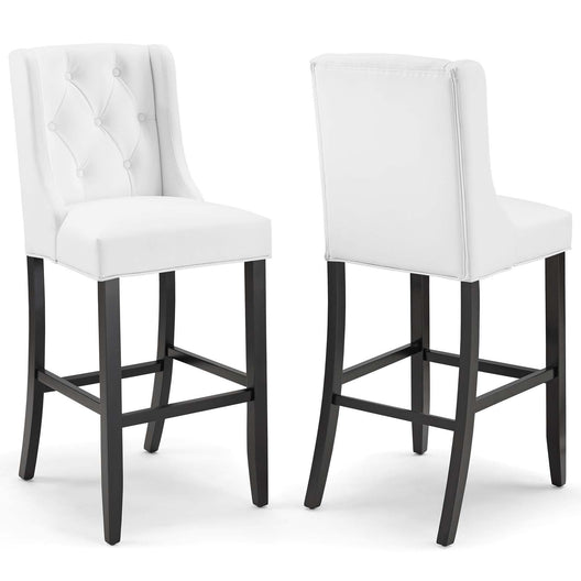 Baronet Bar Stool Faux Leather Set of 2