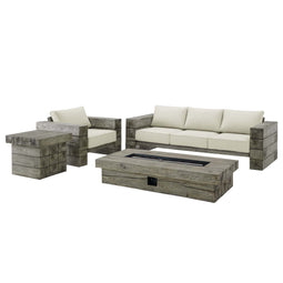 Manteo Rustic Coastal Outdoor Patio 4 Piece Set