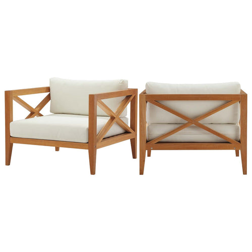 Northlake Outdoor Patio Premium Grade A Teak Wood Armchair Set of 2