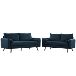 Revive Upholstered Fabric Sofa and Loveseat Set
