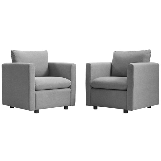 Activate Upholstered Fabric Armchair Set of 2