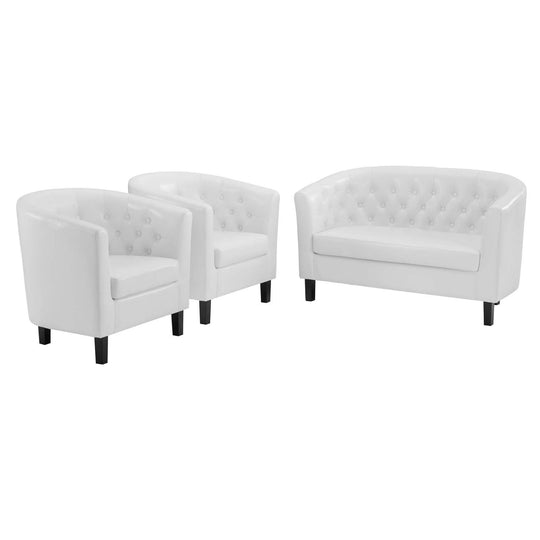 Prospect 3 Piece Upholstered Vinyl Set