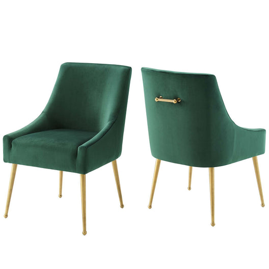 Discern Upholstered Performance Velvet Dining Chair Set of 2