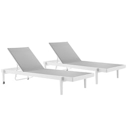 Charleston Outdoor Patio Aluminum Chaise Lounge Chair