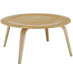 Modern Plywood Coffee Table - Round Meeting Room Conversation Table