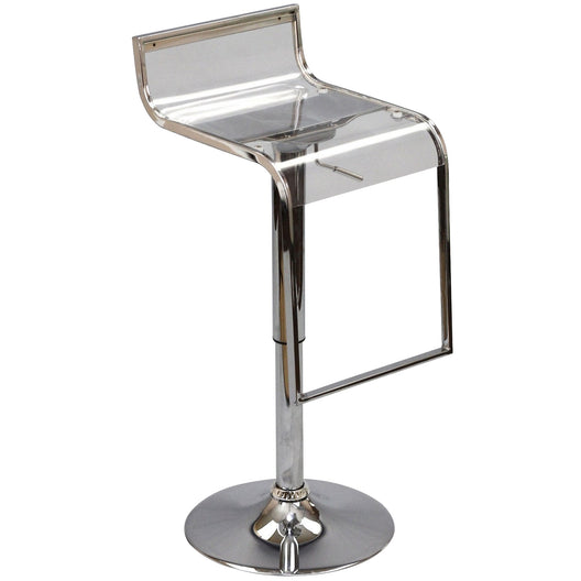 Mid - Century Modern Lem Acrylic Kitchen Helper Stool - Modern Bar Stools