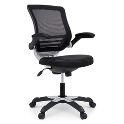 Ergonomic Drafting Chair with Adjustable Foot Ring and Flip-Up Arms Vinyl Seat - For Desk Chair
