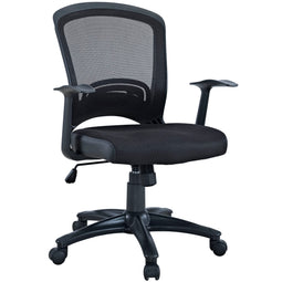 Pulse Mesh Ergonomic Faux Leather Office Chair with Height Adjustable - For Desk Table