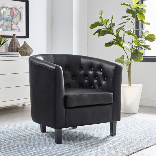 Modern Armchair In Faux Leather - Prospect Upholstered Wood Frame Chair - 1 Set