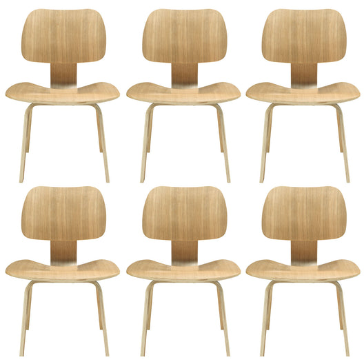 Fathom Kitchen And Dining Chair Set - Modern Restaurant Dining Chair - Natural