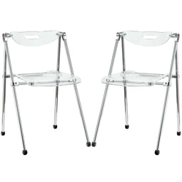 Telescope Arclyic Folding Dining Side Chair Set Of 2 - Modern Dining Set
