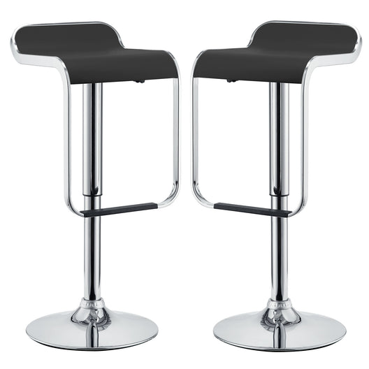 Mid - Century Modern Kitchen Bar & Counter Stools - Set Of 2 - Counter Height Dining Chair