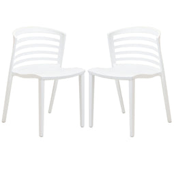 Contemporary Modern Curvy Dining Chair Set of 2 - Multi functional Dinner Sets