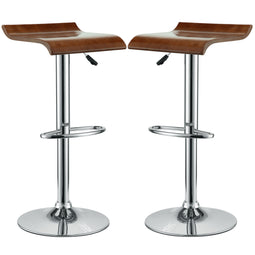 Modern Bentwood Counter Bar Stools - Set Of 2 - Counter Height Dining Chair