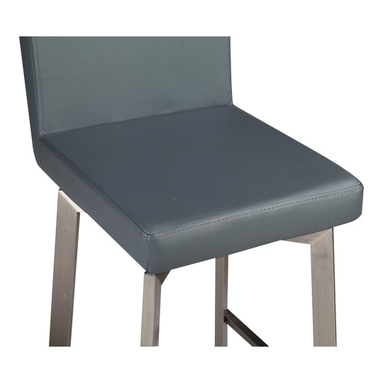 Contemporary Modern Giro Counter Height Stool With Steel Base And Footrest