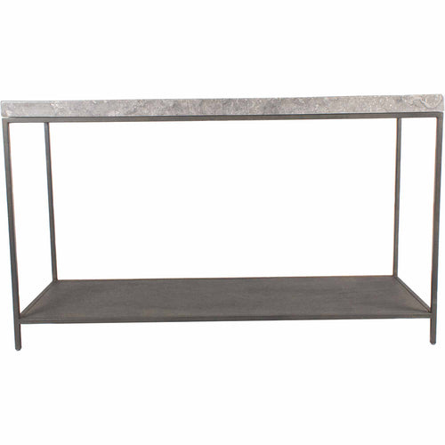 Contemporary Style Makrana Industrial Tv stand  In Black - Console Table With Storage Shelf