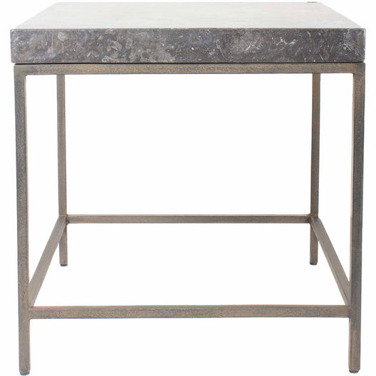 Makrana Marble Side Table, Black, Contemporary Modern