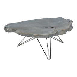 Rustic Tundra Coffee Table - Low Wooden Top Coffee Table - Sofa Side Table