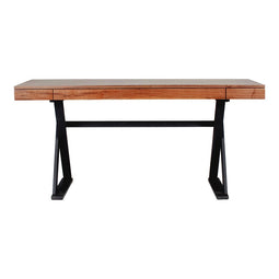 Reale Desk Walnut, Transitional, Light Brown