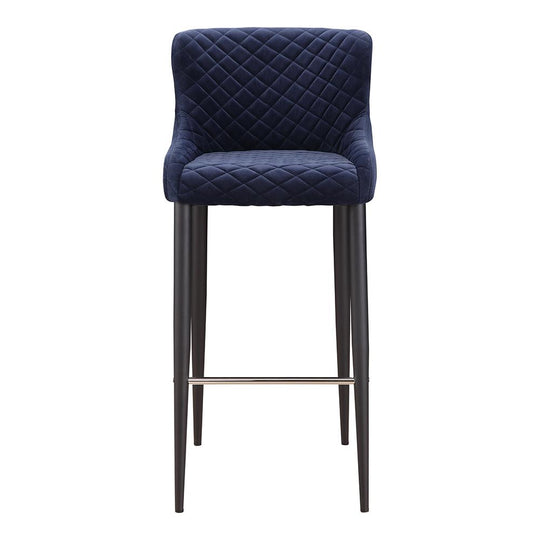 Glam Etta Bar Stool - Bar Stool With Footrest And Back - Kitchen Stools