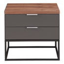 Load image into Gallery viewer, Leroy Side Table With Drawers, Dark Grey, Contemporary Modern