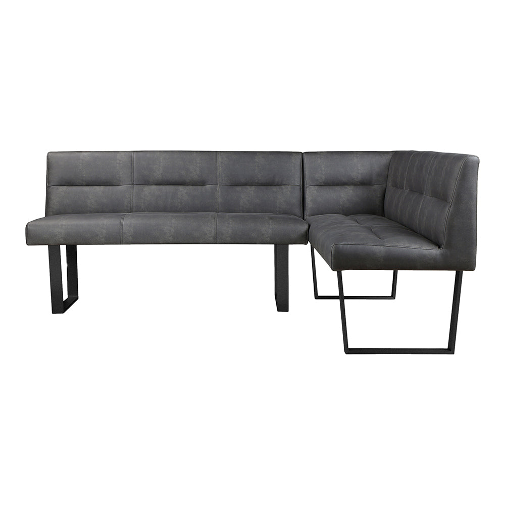 Contemporary Modern Hanlon Corner Bench - Accent Long Dining Bench Seat