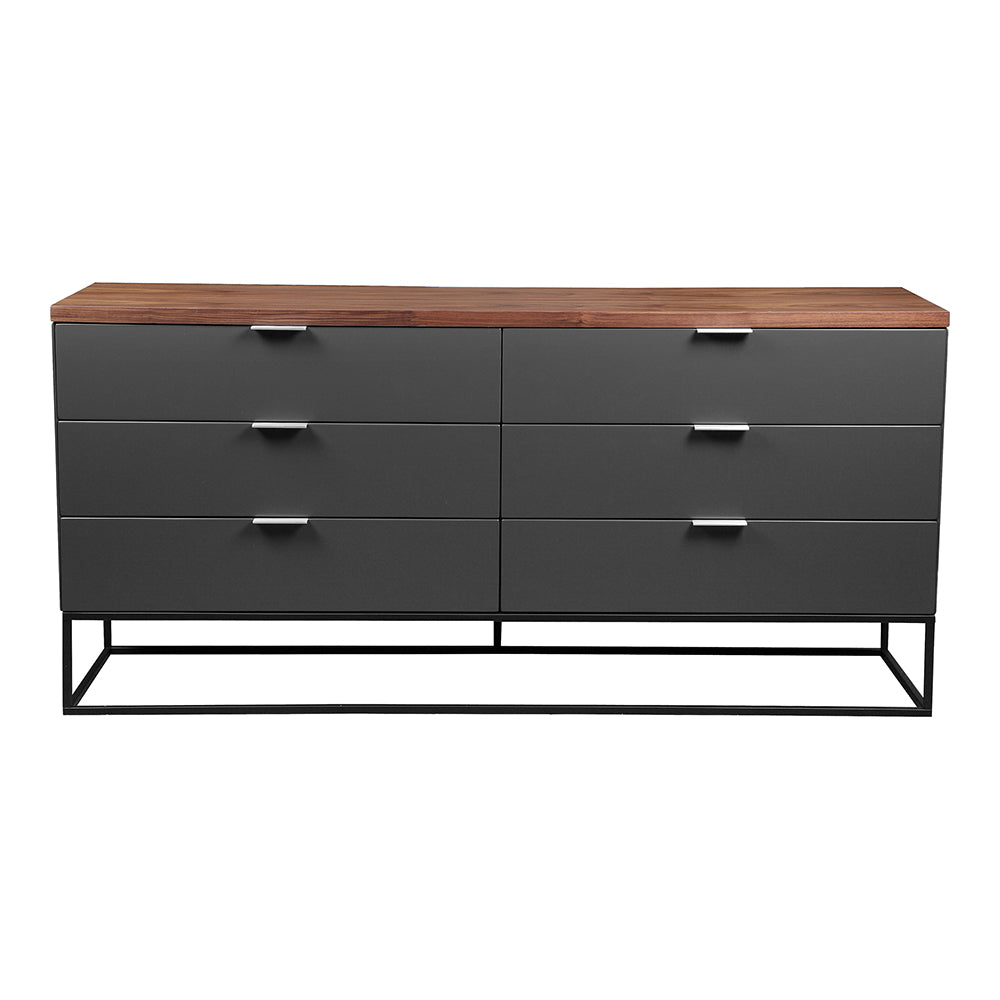 Leroy Low Dresser, Contemporary Modern, Brown