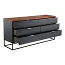 Load image into Gallery viewer, Leroy Low Dresser, Contemporary Modern, Brown