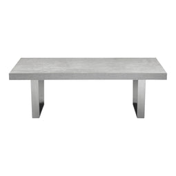 Mason Coffee Table, Light Gray, Contemporary Modern