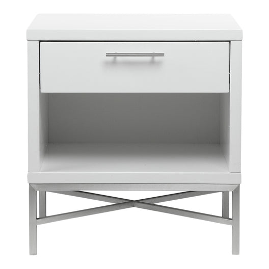 Kriss Side Table, White, Contemporary Modern
