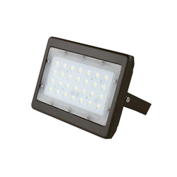 LED Flood Light 50W - 250W Equivalent Bronze Finish - U-Bracket Mount - 6000 Lumens - 5700K DLC Approved