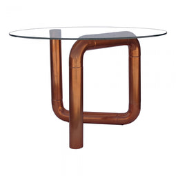 Boa Side Table Rose Gold, Rose Gold, Contemporary Modern