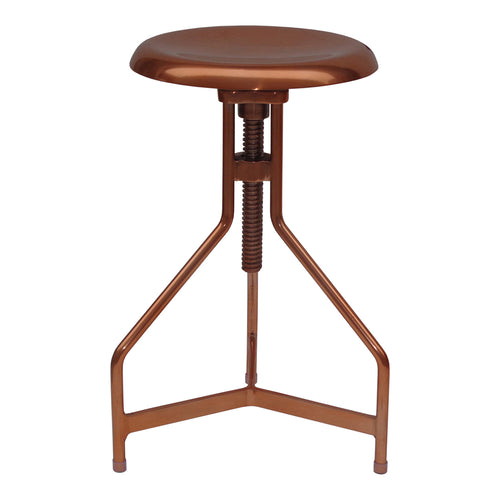 Industrial Singleton Aluminium Adjustable Bar Counter Height Stool - Pub Stool