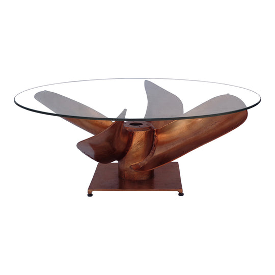 Contemporary Modern Archimedes Cocktail Table - Round Coffee Table - Bar Table