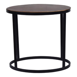 Ovoid Accent Table, Copper, Industrial