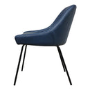 Load image into Gallery viewer, Contemporary Modern Blaze Dining Room Chair - Faux Leather Dining Chair Set - Blue
