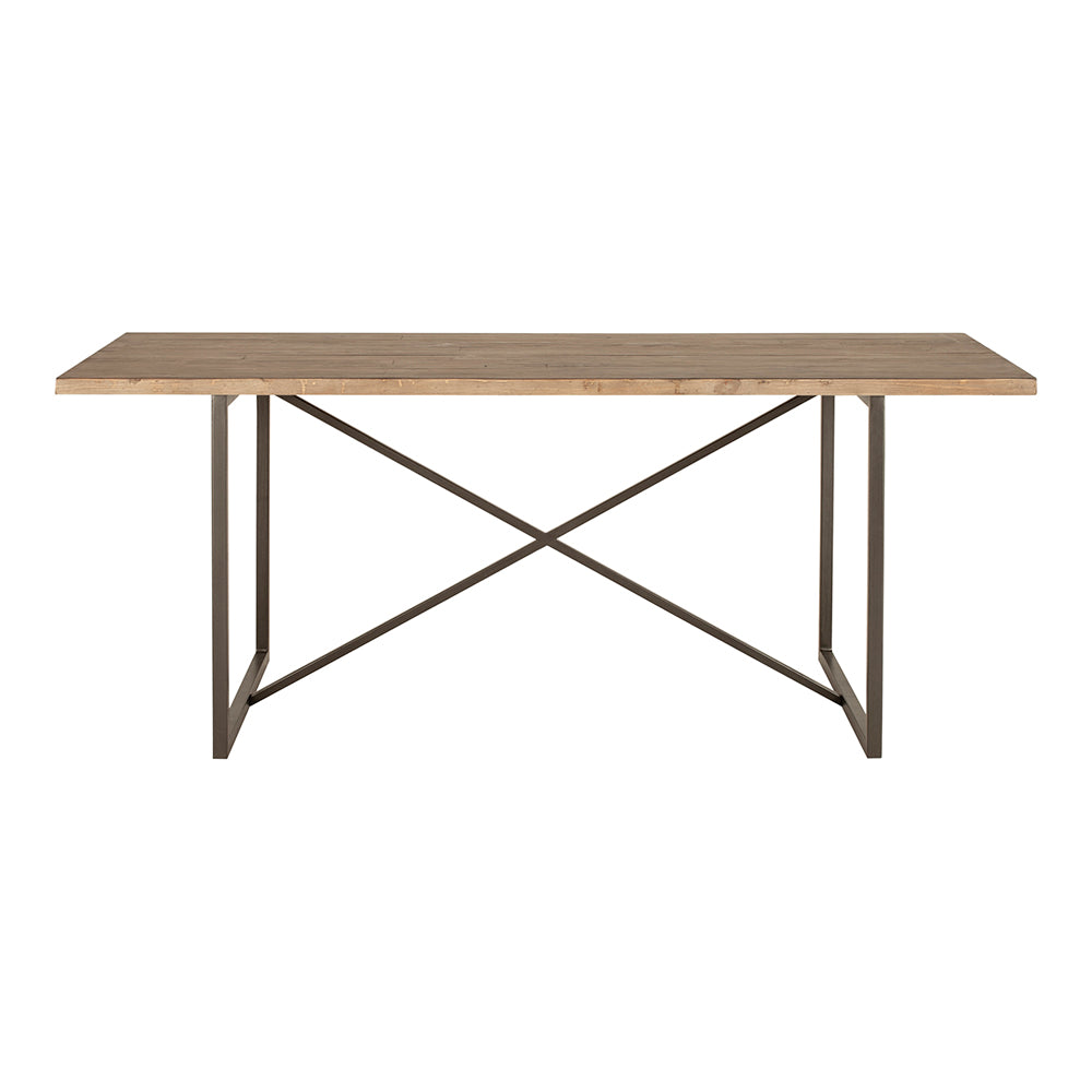 Sierra Dining Table With Reclaimed Pine Wood top - Dining Room Tables